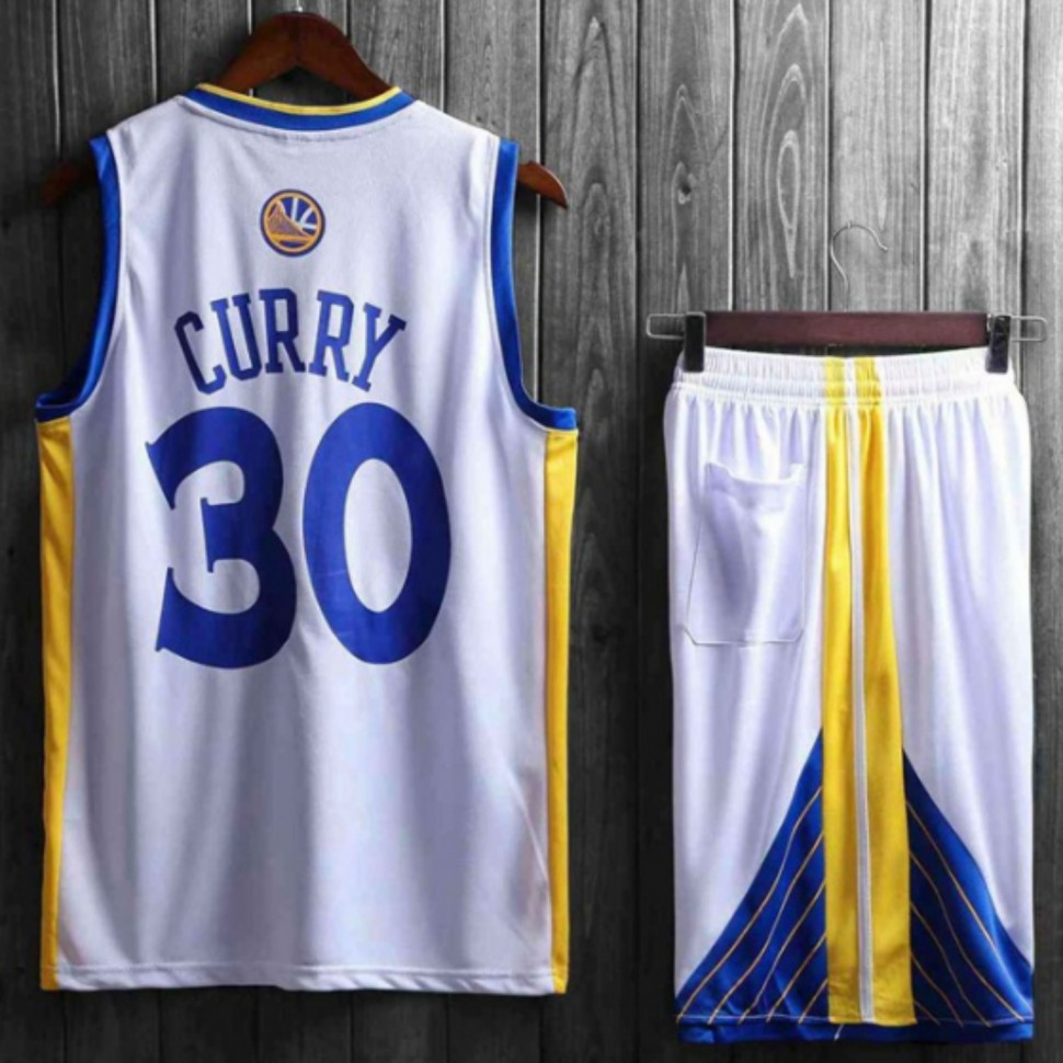e05bf555 ... Подростковая баскетбольная форма NBA Голден Стэйт Уорриорс №30 Стефен  Карри белая домашняя фото 2 —