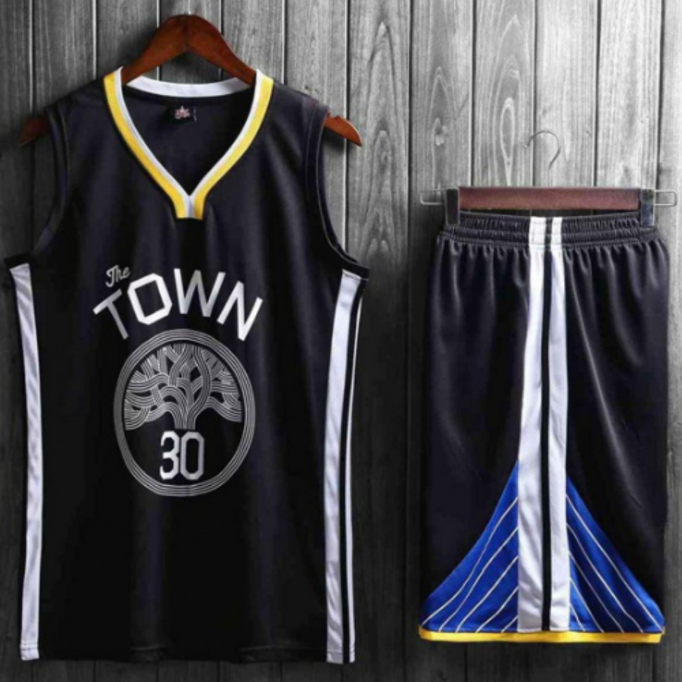 0287a3c8 Подростковая баскетбольная форма NBA Голден Стэйт Уорриорс №30 Стефен Карри  черный альтернативный фото 1 —