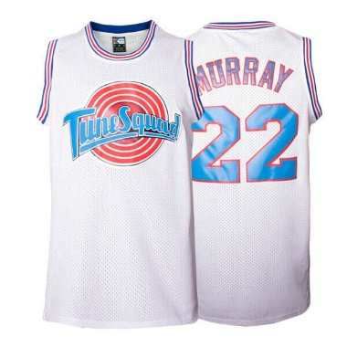 Баскетбольная майка NBA Space Jam Tune Squad  № 22 MURRAY белая SWINGMAN RETRO — NBAform.ru