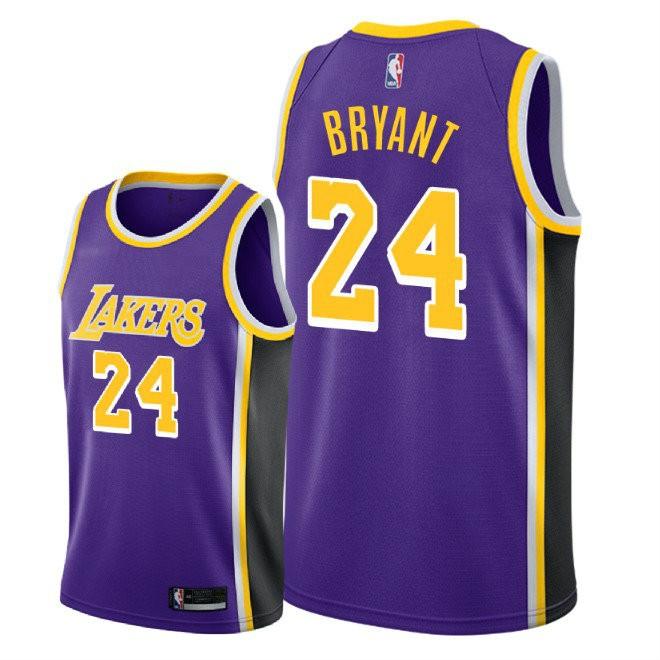 596bafd6 Баскетбольная майка NBA Лос-Анджелес Лейкерс 2017 NEW фиолетовая № 24  БРАЙАНТ Коби SWINGMAN - в интернет-магазине баскетбольной формы NBA.
