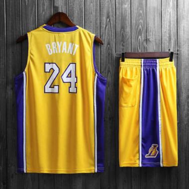 Подростковая баскетбольная форма NBA Лос-Анджелес Лейкерс №24 Коби Брайант  желтый домашний — NBAform 1457af53d7e