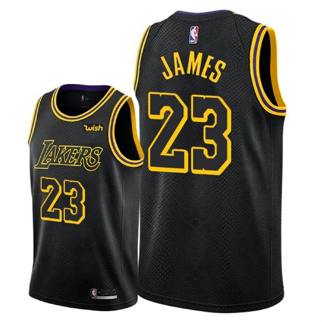 73e08a2b Баскетбольная майка NBA Лос-Анджелес Лейкерс № 23 Леброн Джеймс черная  SWINGMAN - в интернет-магазине баскетбольной формы NBA.