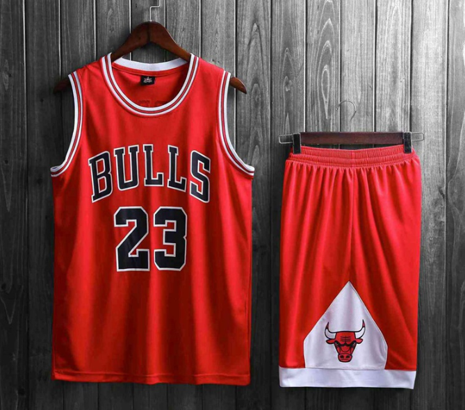 Подростковая баскетбольная форма NBA Чикаго Буллз №23 Майкл Джордан красный  гостевой 6836231f6dc