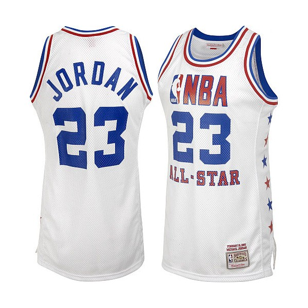 Баскетбольная майка NBA All Star Game 2003 № 23 Джордан Майкл белая SWINGMAN RETRO фото 1 — NBAform.ru
