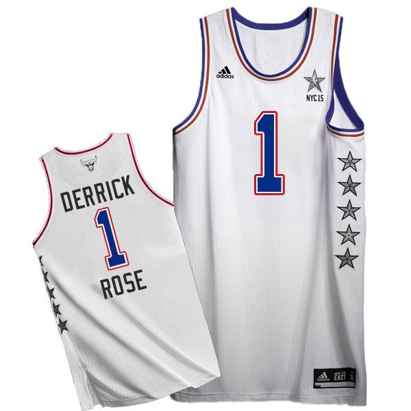 Баскетбольная майка NBA All Star Game 2015 NYC № 1 Роуз Деррик ВОСТОК белая SWINGMAN фото 1 — NBAform.ru
