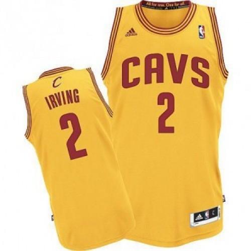 158c0d40 Баскетбольная майка NBA Кливленд Кавальерс желтая № 2 Кайри Ирвинг SWINGMAN  REV30 фото 1 — NBAform