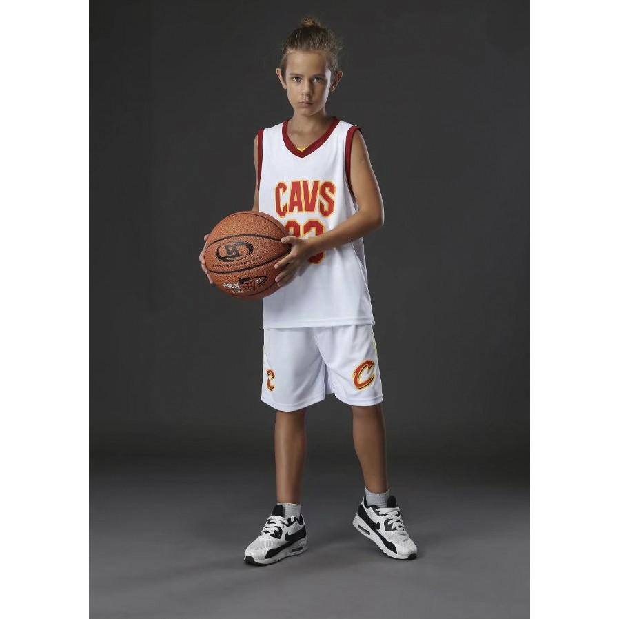 Детская баскетбольная форма NBA 2017 Леброн Джеймс Кливленд Кавальерс №23  белый afd1b8730be