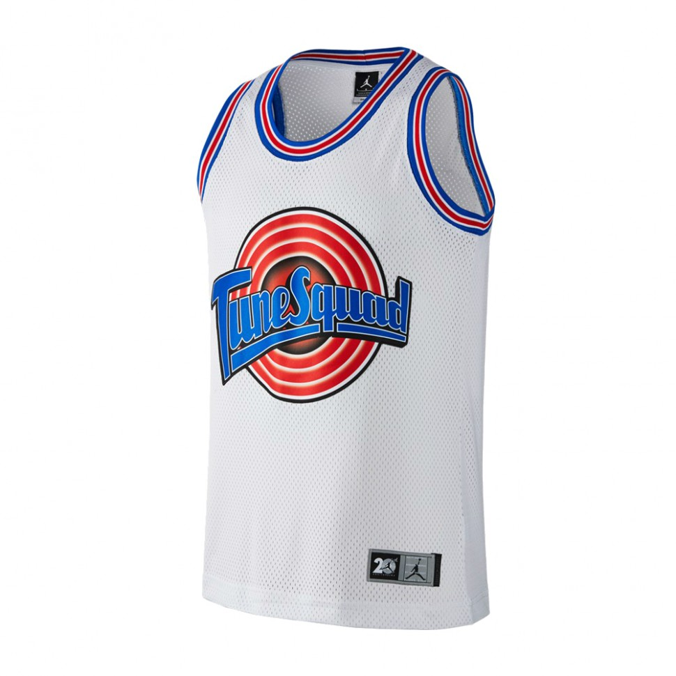 Баскетбольная майка NBA Space Jam Tune Squad  № 23 Джордан Майкл белая SWINGMAN RETRO фото 1 — NBAform.ru